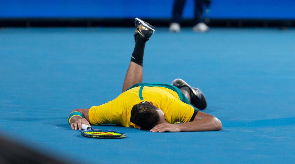 Nick Kyrgios floored