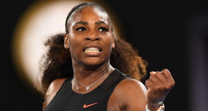 Serena Williams pumped up