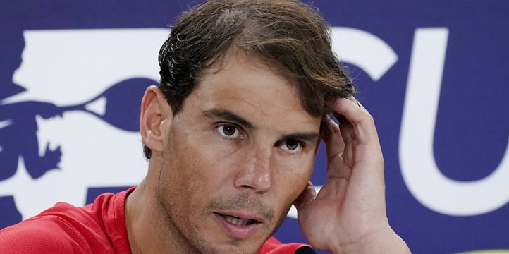 Rafael Nadal at press conference