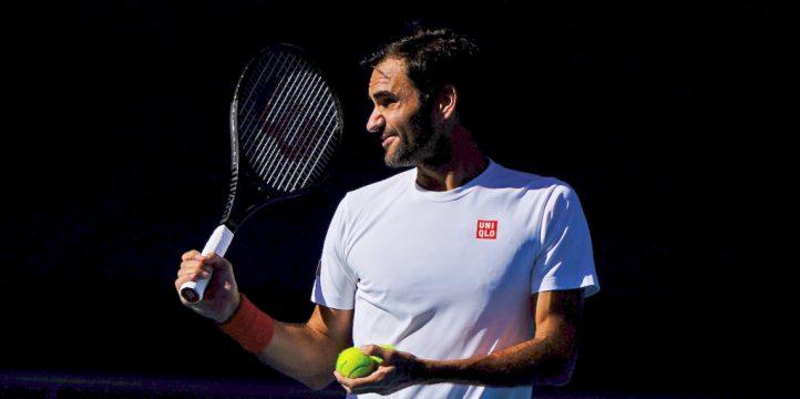 Roger Federer training