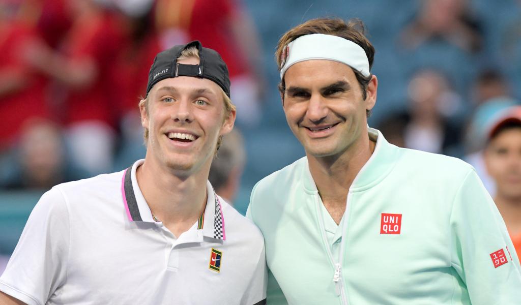 Denis Shapovalov and Roger Federer