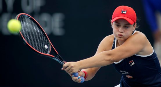Ashleigh Barty double-handed forehand