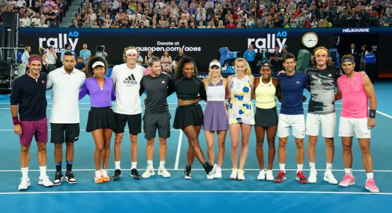 Rally4Relief Serena Williams, Roger Federer, Novak Djokovic Rafael Nadal