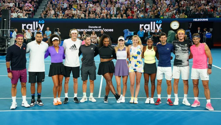 Rally4Relief Serena Williams, Roger Federer, Novak Djokovic Rafael Nadal