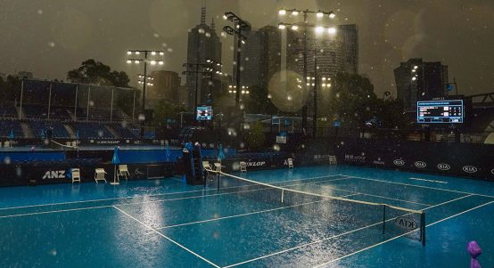 Australian Open practice session rain