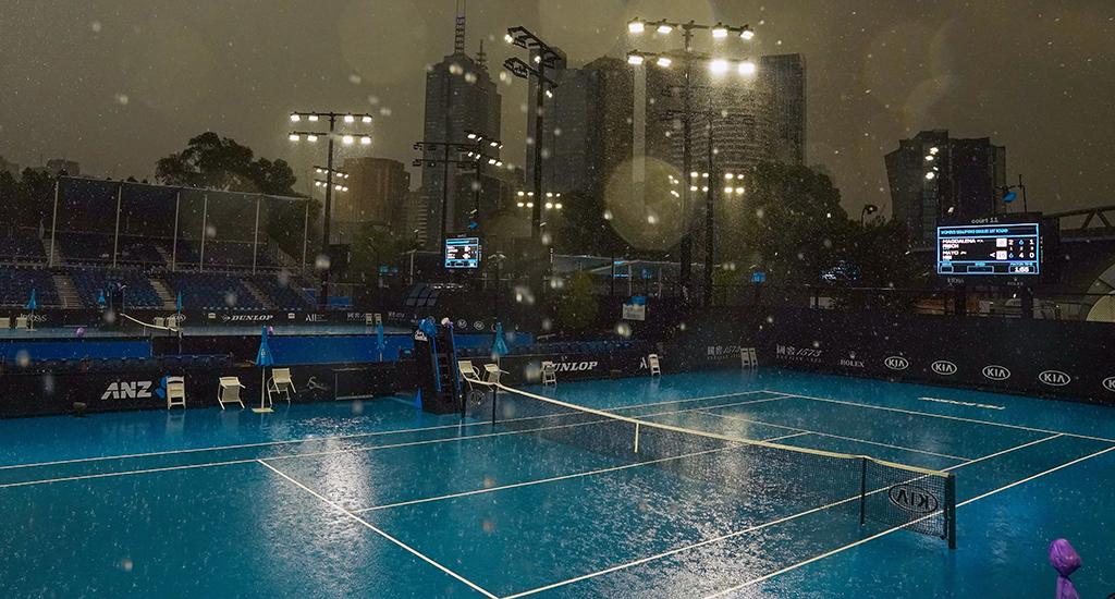Australian Open practice session rain