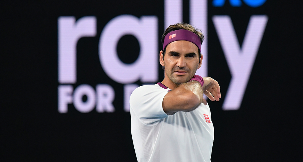 Roger Federer at Rally for Relief