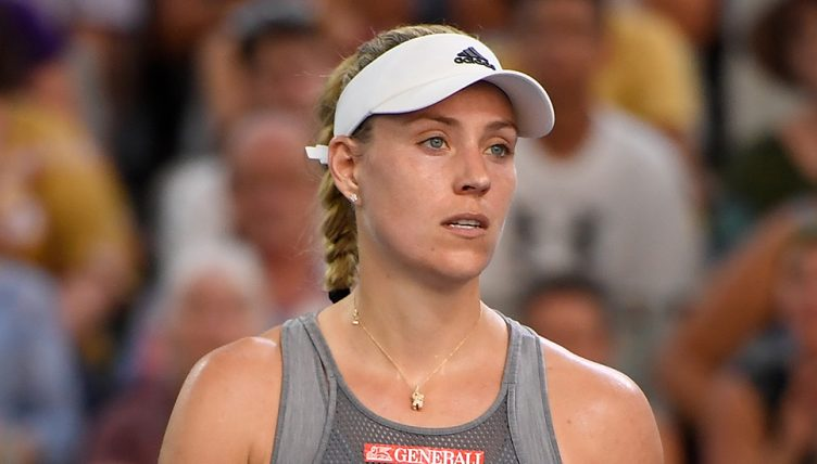Angelique Kerber looks on in Australia