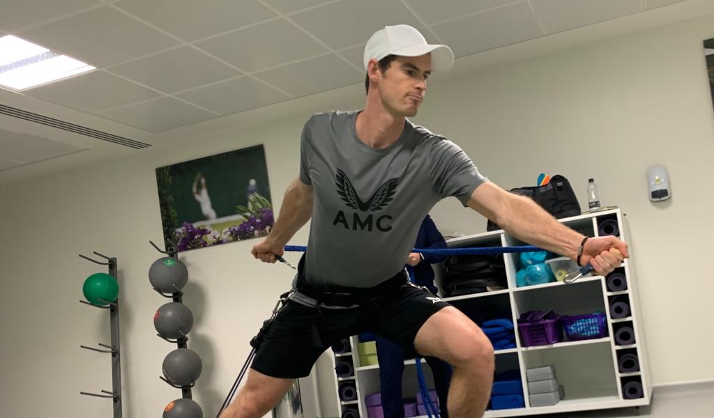 Andy Murray training