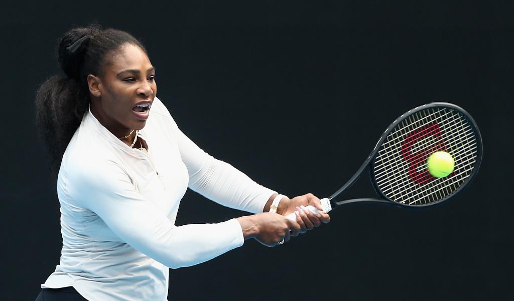 Serena Williams practising