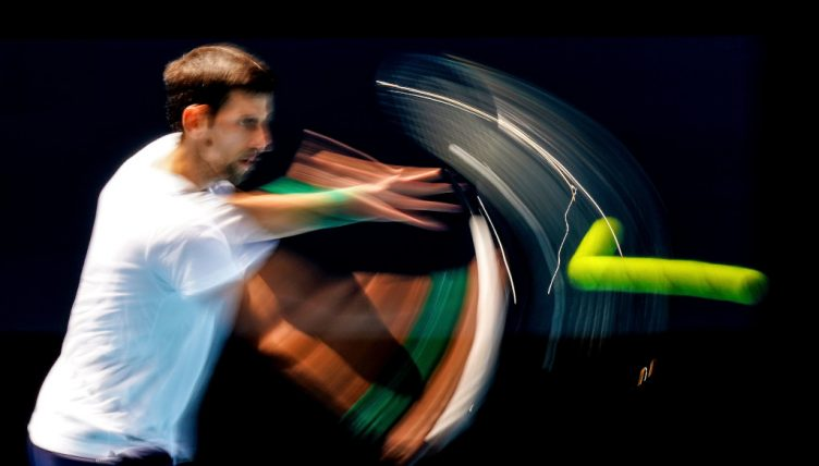 Novak Djokovic in the zone