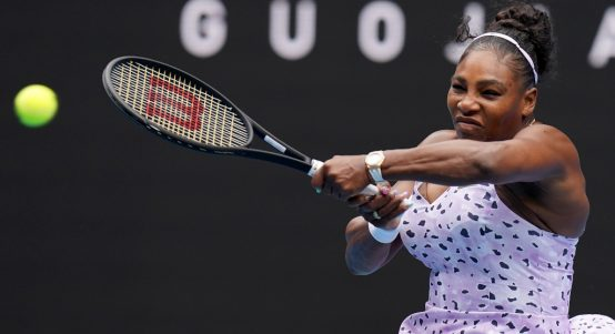 Serena Williams powering through