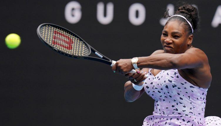 Serena Williams powering through
