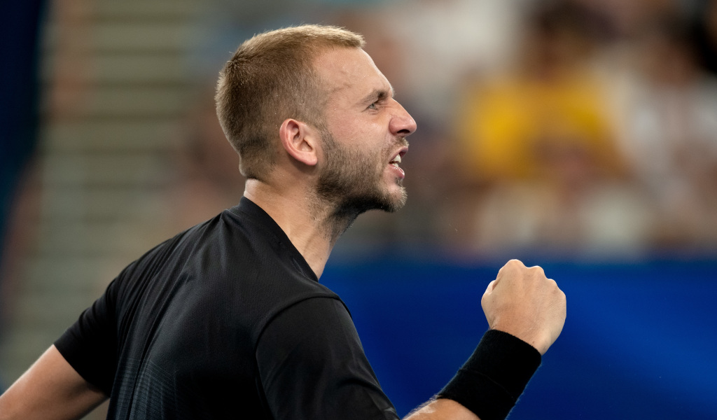 Dan Evans happy