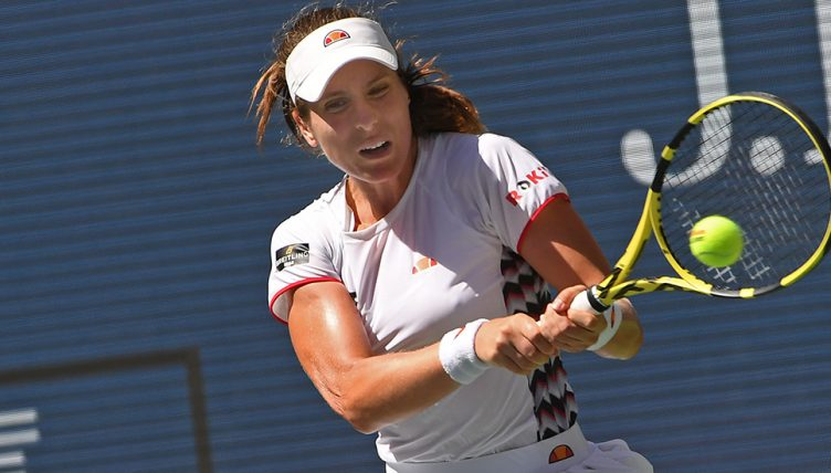 Johanna Konta backhand at Australian Open