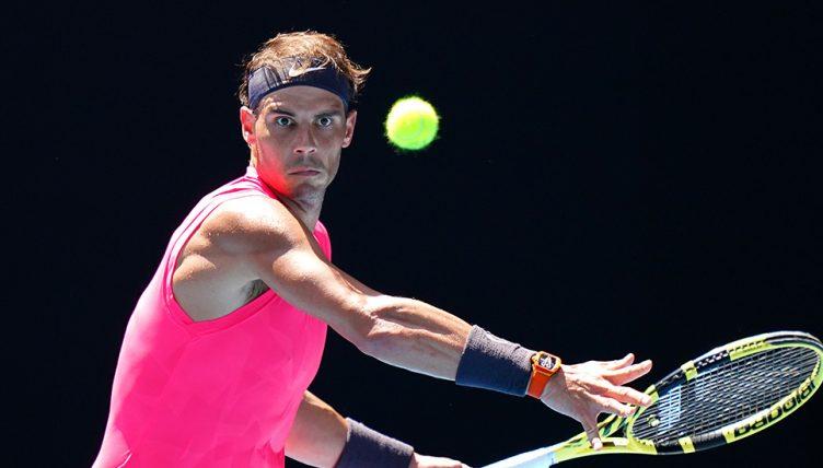 Rafael Nadal forehand at Australian Open