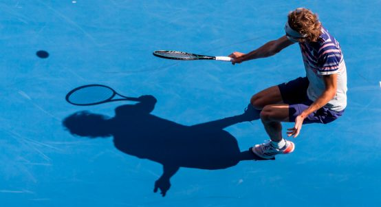 Alexander Zverev and his shadow
