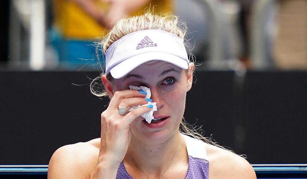 An emotional Caroline Wozniacki