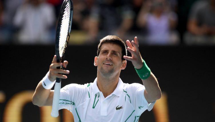 A delighted Novak Djokovic