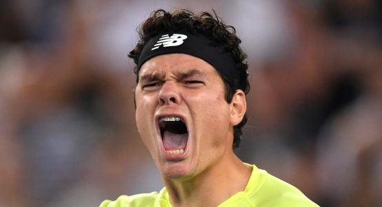 A happy Milos Raonic