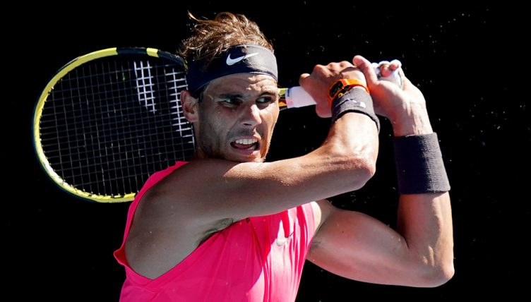 Rafael Nadal in action at Australian Open