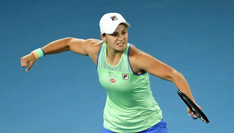 Ashleigh Barty excited