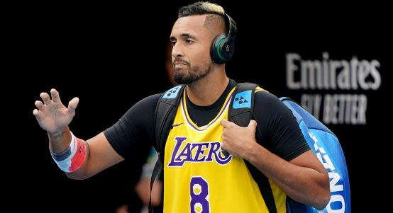 Nick Kyrgios pays tribute to Kobe Bryant