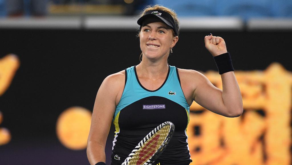 Anastasia Pavlyuchenkova celebrates