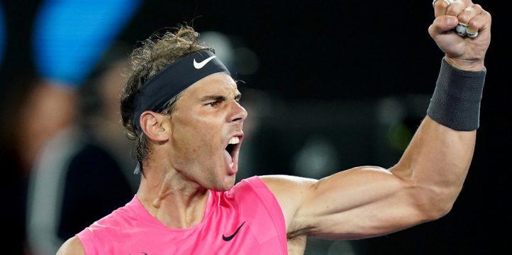 Rafael Nadal enjoying that one