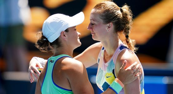 Ashleigh Barty and Petra Kvitova at Australian Open