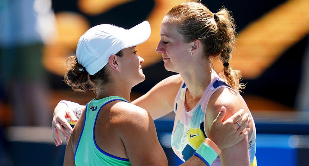 Ashleigh Barty and Petra Kvitova at Australian Open