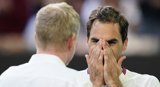Roger Federer on-court interview