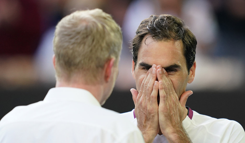 Roger Federer on-court interview