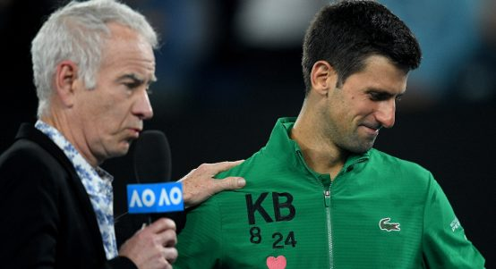 Novak Djokovic emotional while paying tribute to Kobe Bryant