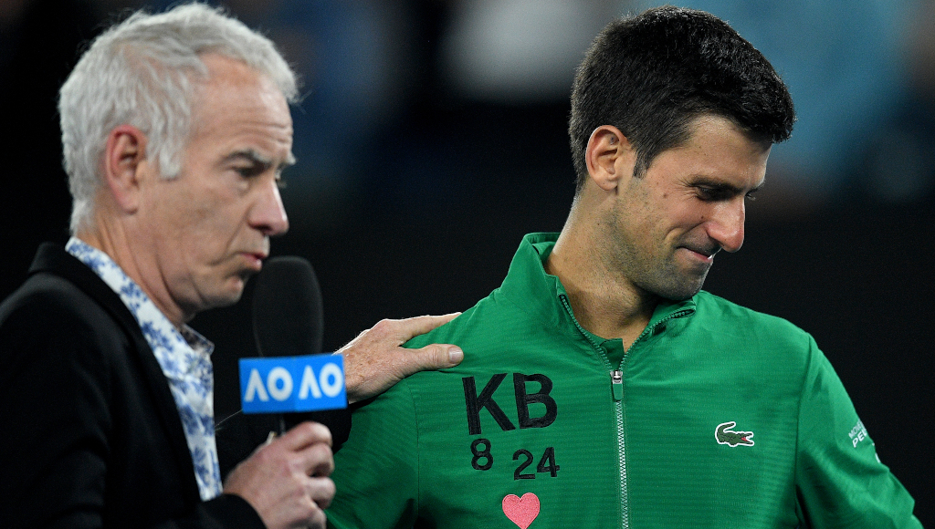 Watch He Was There For Me Says Novak Djokovic In Emotional Tribute To Kobe Bryant Tennis365 Com