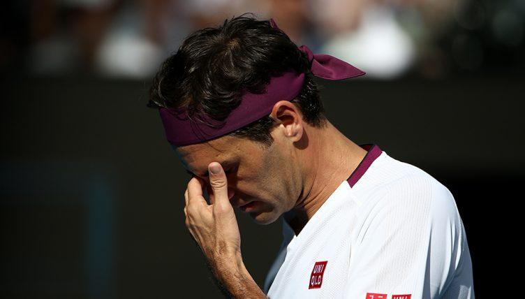 Roger Federer facepalm