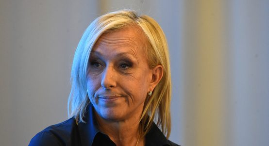 Martina Navratilova - standing by Margaret Court statement