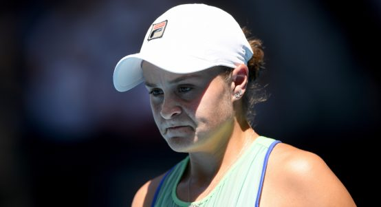 A disappointed Ashleigh Barty