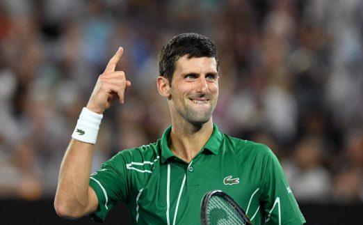 Novak Djokovic powers on