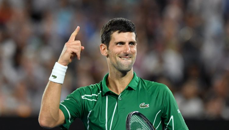 Novak Djokovic powers on