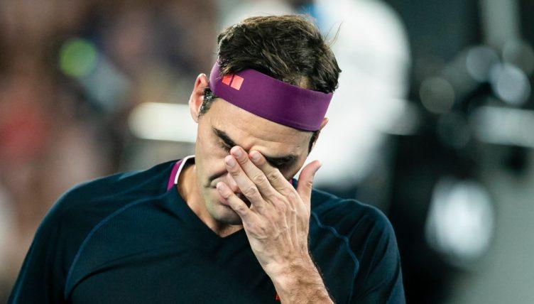 Roger Federer feeling the heat