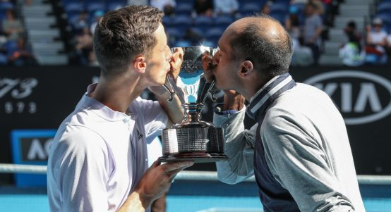 Joe Salisbury and Rajeev Ram Australian Open champions