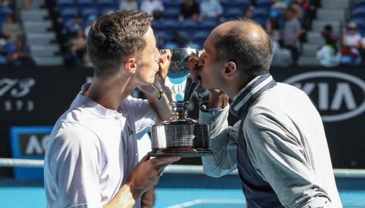 Joe Salisbury and Rajeev Ram Australian Open champions