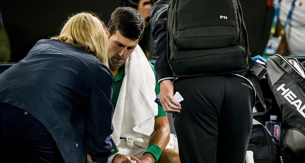 Novak Djokovic medical timeout