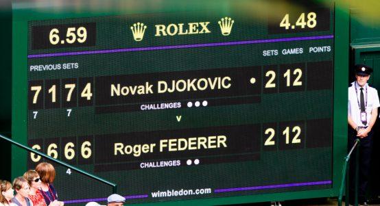 2019 Wimbledon final scoreboard