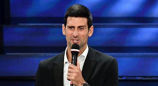 Novak Djokovic singing
