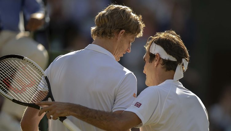 Roger Federer and Kevin Anderson