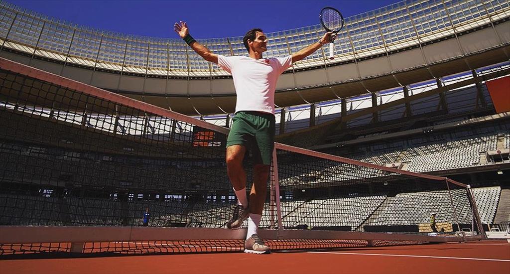 Roger Federer match in Africa