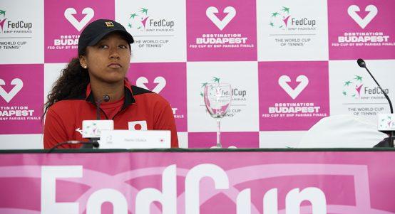 Naomi Osaka at Fed Cup