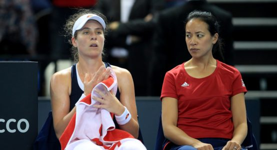 Johanna Konta and Anne Keothavong Fed Cup